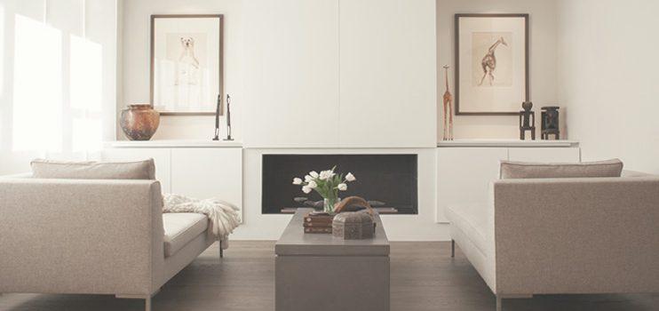 Modern en strak interieur van een woning